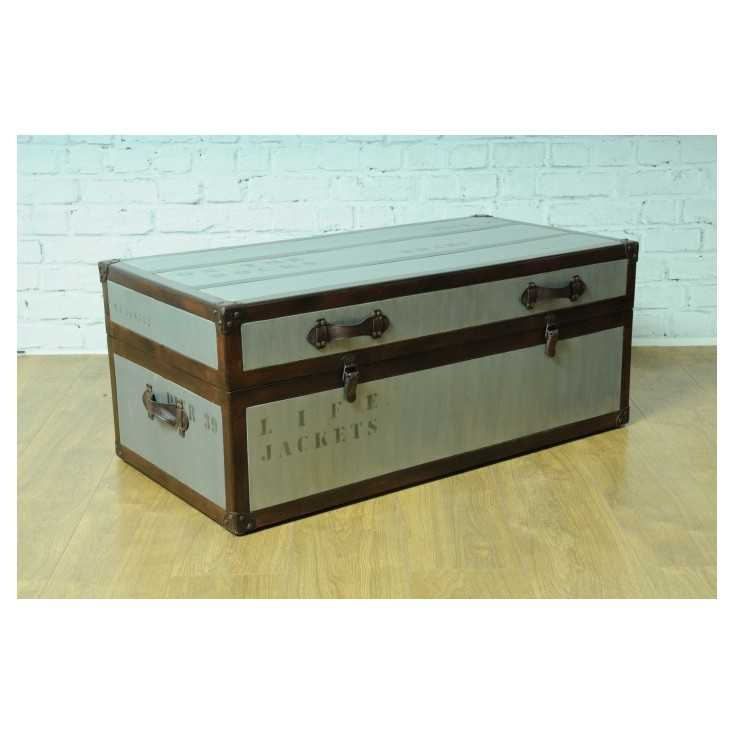 Vintage Time Traveller Trunk Table