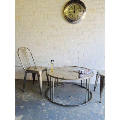 Iron Clock Table