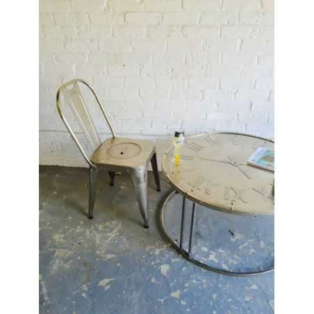Iron Clock Table Home Smithers of Stamford £ 318.00 Store UK, US, EU, AE,BE,CA,DK,FR,DE,IE,IT,MT,NL,NO,ES,SE