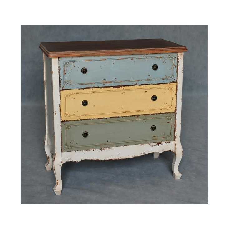 Shabby French Multi Colour Style Chest of Drawers