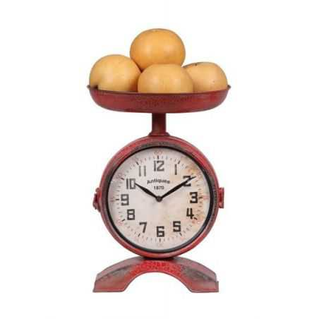 Retro Red Scales Clock Smithers Archives Smithers of Stamford £ 143.50 Store UK, US, EU, AE,BE,CA,DK,FR,DE,IE,IT,MT,NL,NO,ES,SE