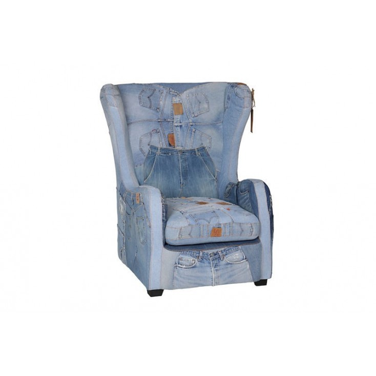 Denim Armchair Upcycled Furniture Smithers of Stamford £ 2,700.00 Store UK, US, EU, AE,BE,CA,DK,FR,DE,IE,IT,MT,NL,NO,ES,SE