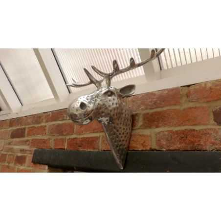 Aluminium Moose Head Smithers Archives Smithers of Stamford £ 110.00 Store UK, US, EU, AE,BE,CA,DK,FR,DE,IE,IT,MT,NL,NO,ES,SE