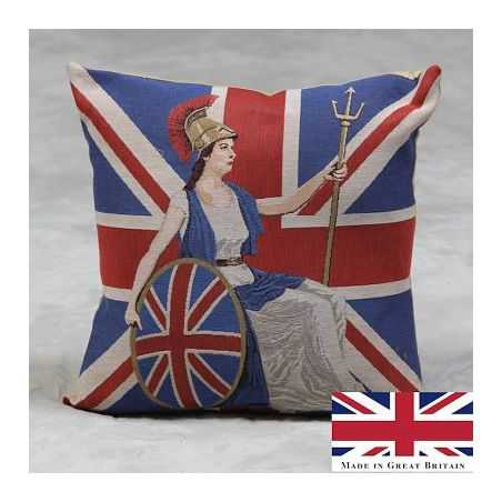 Britannia Cushion Smithers Archives Smithers of Stamford £ 35.00 Store UK, US, EU, AE,BE,CA,DK,FR,DE,IE,IT,MT,NL,NO,ES,SE