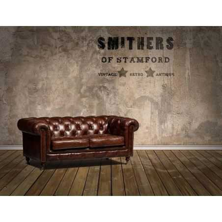 Vintage Distressed Leather Chesterfield Sofa Smithers Archives Smithers of Stamford £ 2,316.00 Store UK, US, EU, AE,BE,CA,DK,...