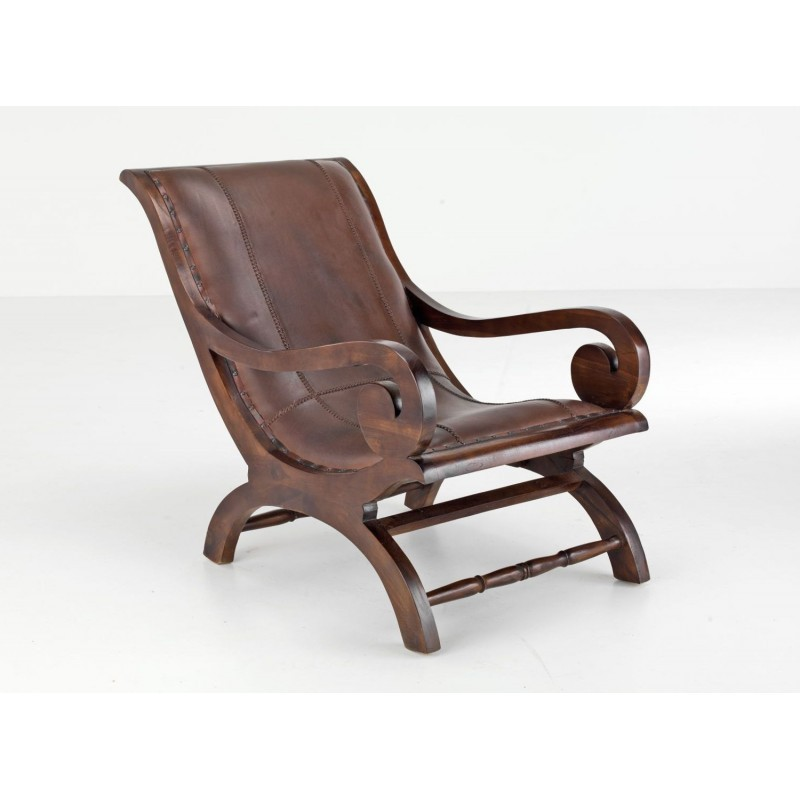 Vintage Lazy chair made from solid wooden teak, unique ...