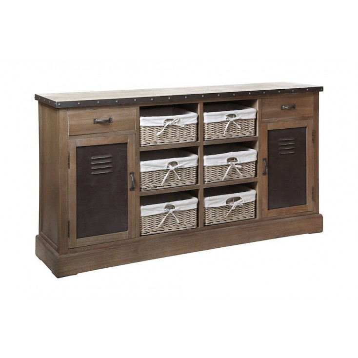 Industrial Wood And Metal Sideboard Designer Furniture Smithers of Stamford £ 869.00 Store UK, US, EU, AE,BE,CA,DK,FR,DE,IE,I...
