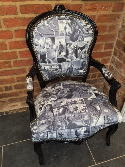 Spiderman Comic Chair Handmade In Antique Style French