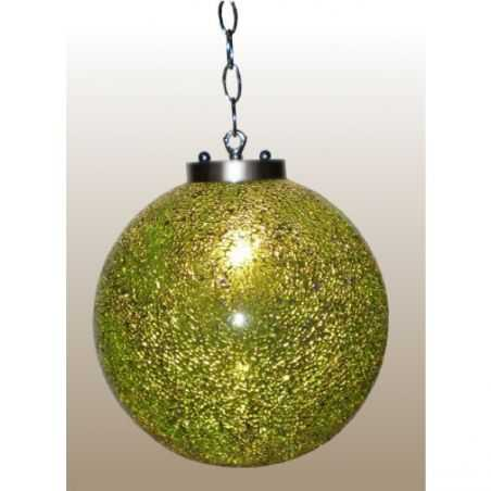 Contemporary Glass Ball Light with Stainless Chain Home Smithers of Stamford £ 72.00 Store UK, US, EU, AE,BE,CA,DK,FR,DE,IE,I...