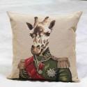 French Giraffe Cushion