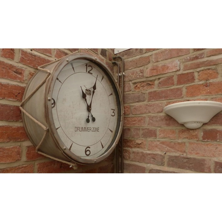 Round Drum Wall Clock Boys Bedroom