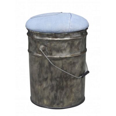 Denim Stool Upcycled Furniture Smithers of Stamford £ 90.00 Store UK, US, EU, AE,BE,CA,DK,FR,DE,IE,IT,MT,NL,NO,ES,SE