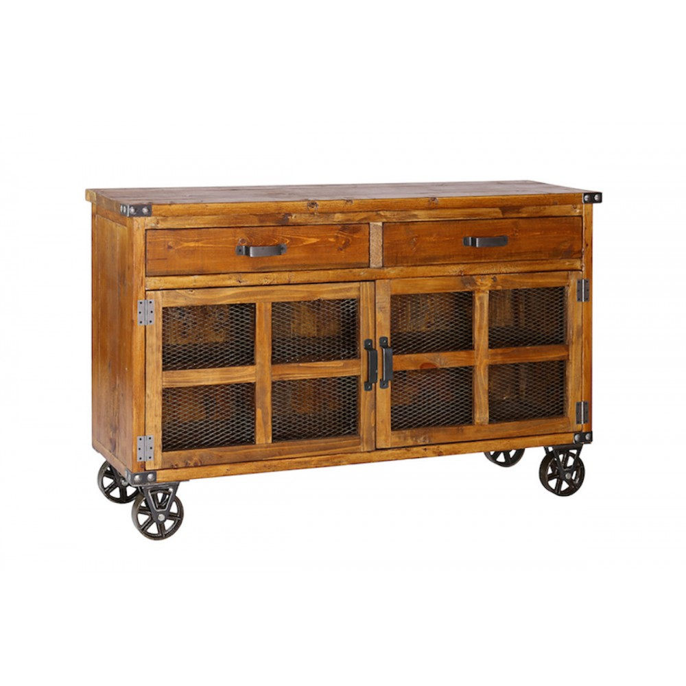 Designers of vintage industrial sideboard handmade from teak for Sideboard industrial design