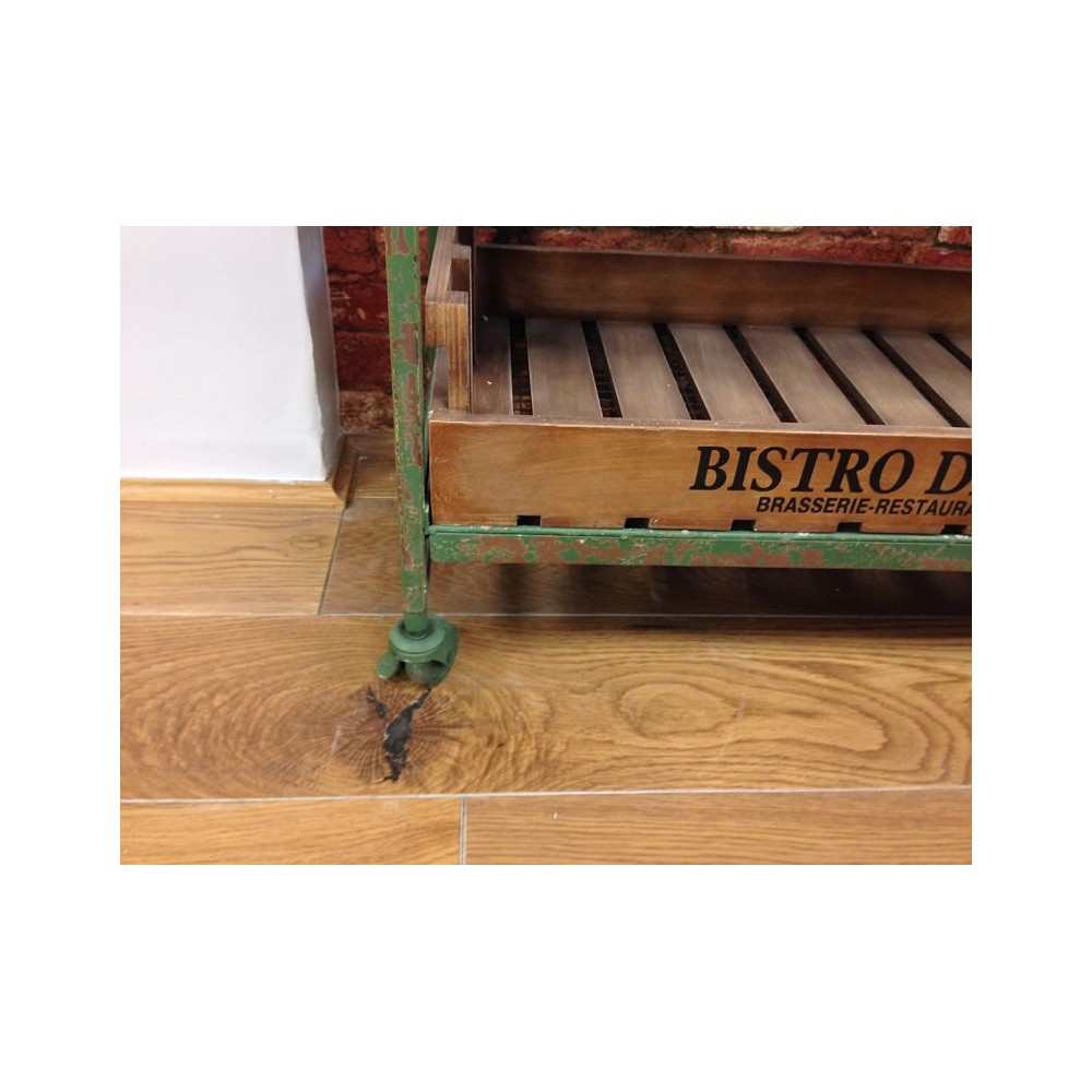 Green Vintage French Crate Kitchen Storage In Old