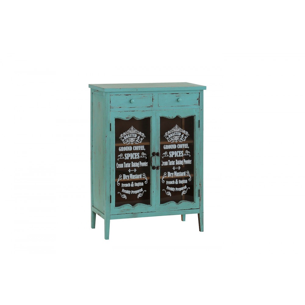 French Coffee And Spices Cabinet Hand Painted Antique