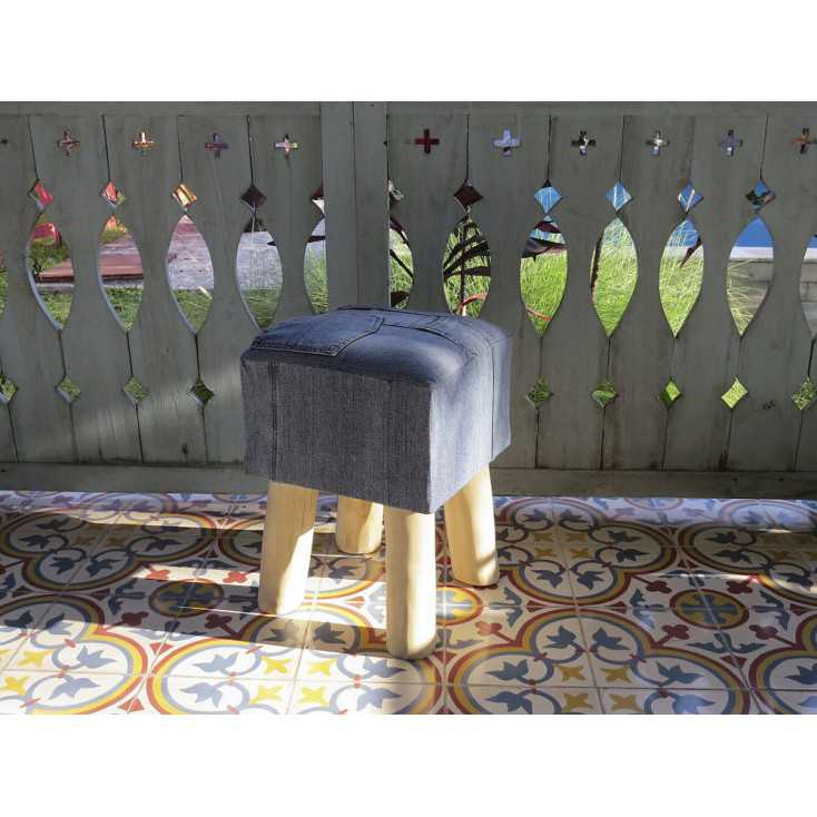 Denim Low Stool Smithers Archives Smithers of Stamford £ 80.00 Store UK, US, EU, AE,BE,CA,DK,FR,DE,IE,IT,MT,NL,NO,ES,SE