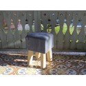 Denim Low Stool