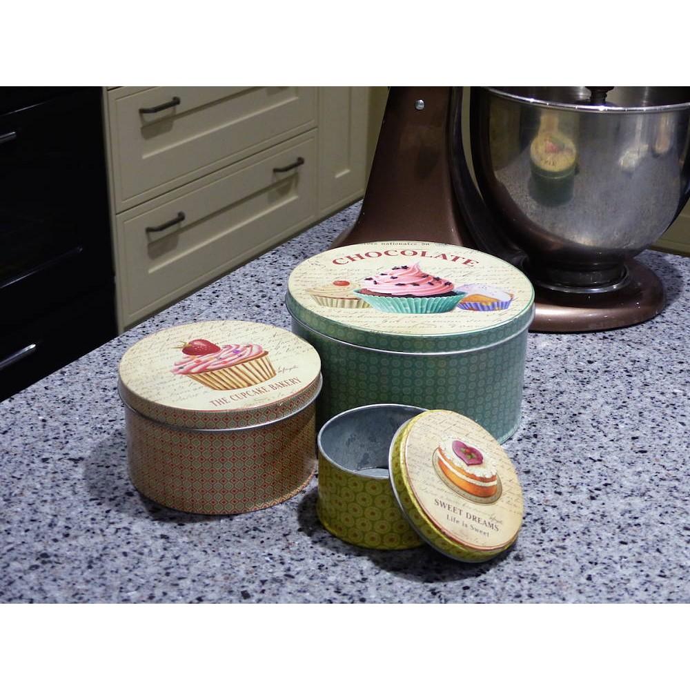retro cake storage tins for cookies. Black Bedroom Furniture Sets. Home Design Ideas