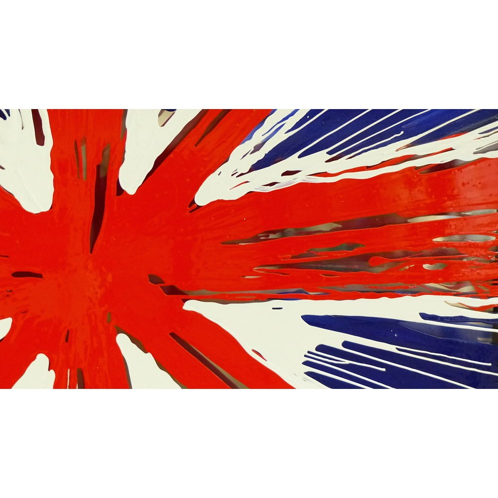 wall picture union jack flag painted glass picture pop art. Black Bedroom Furniture Sets. Home Design Ideas