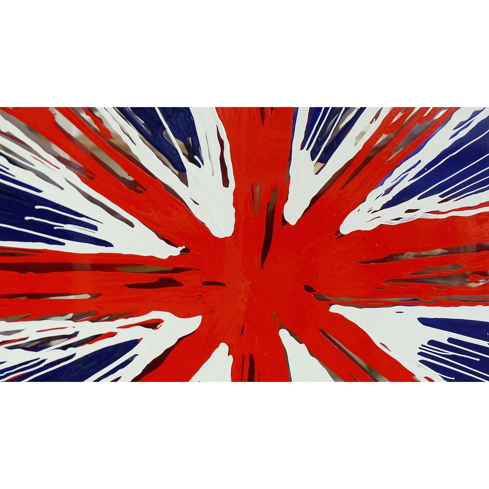 Wall Picture Union Jack Flag Painted Glass Picture Pop Art