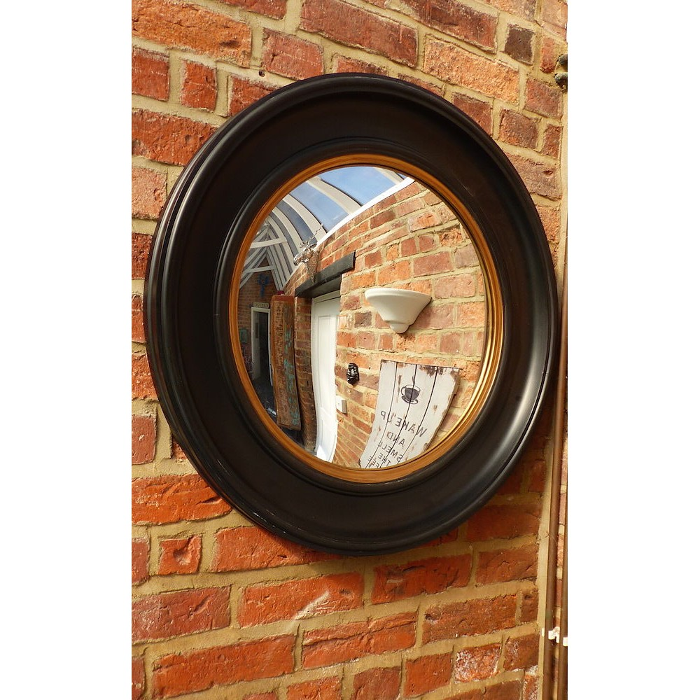 Fish eye convex nautical mirror for vintage home interiors for Convex mirror for home