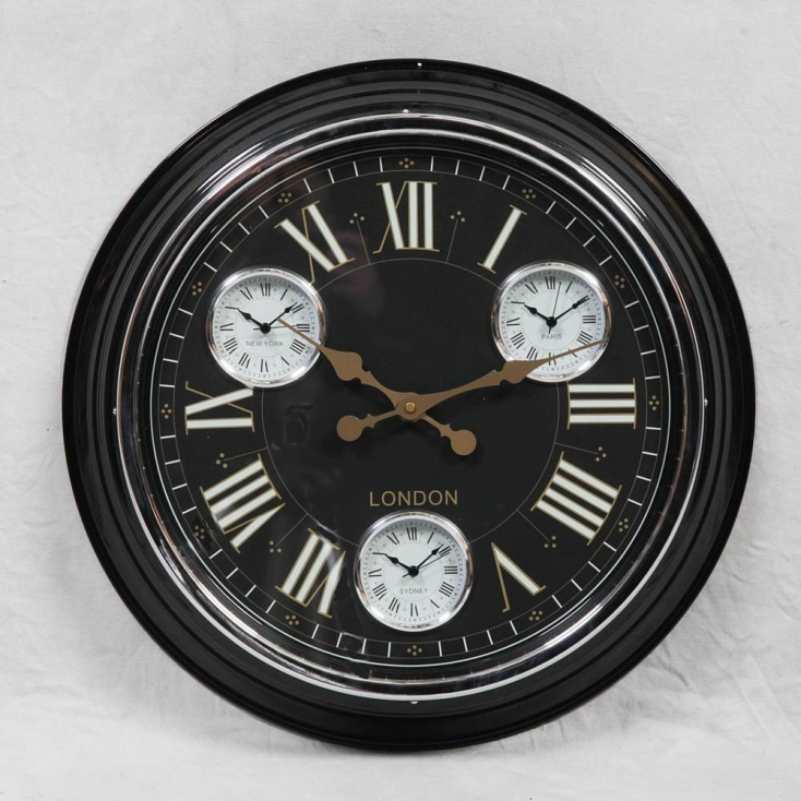 Black Wall Clock Retro 1950s Style Previous Collections Smithers of Stamford £ 83.50 Store UK, US, EU