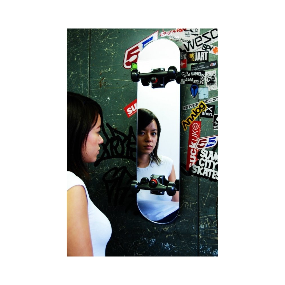 Retro Funky Mirror In The Shape Of A 1979 Skateboard