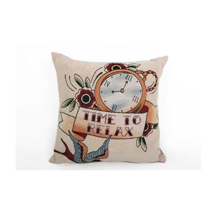 Tattoo cushion Home Smithers of Stamford £ 40.00 Store UK, US, EU, AE,BE,CA,DK,FR,DE,IE,IT,MT,NL,NO,ES,SE