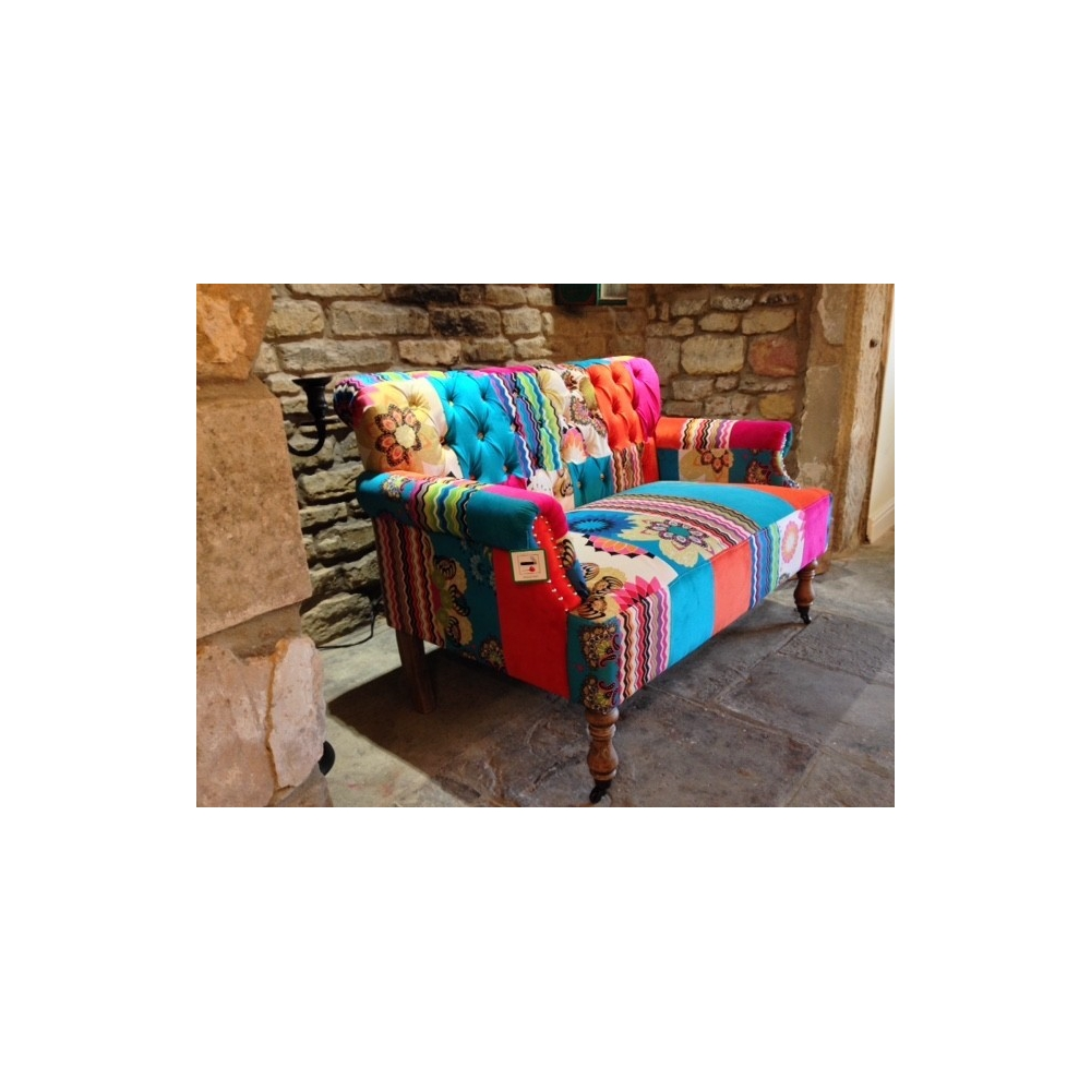 Small patchwork sofa for Patchwork couch