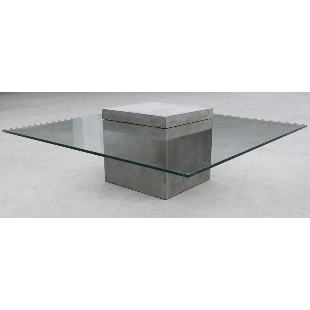 Concrete Coffee Table Polished Cement Furniture Uk Lyon
