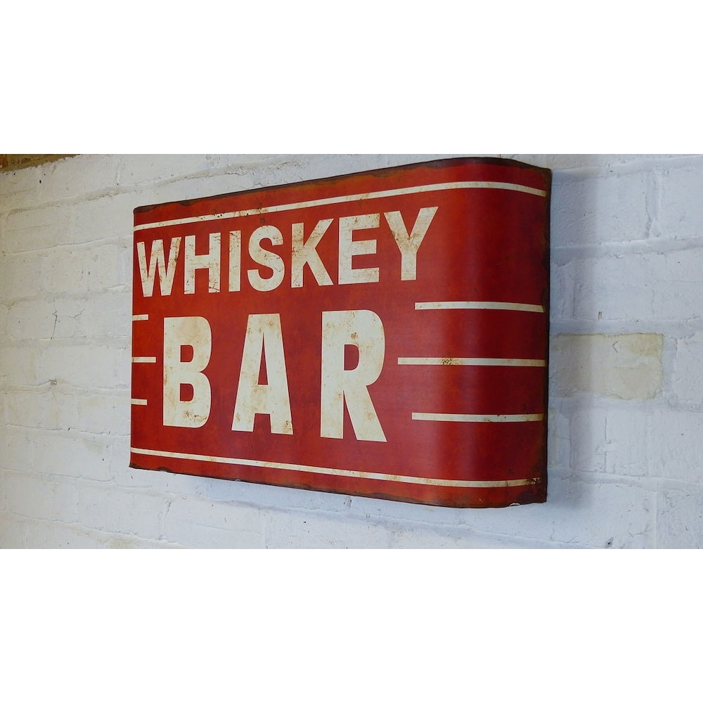 Old Fashioned Metal Wall Vintage Whiskey Bar Signs At Smithers