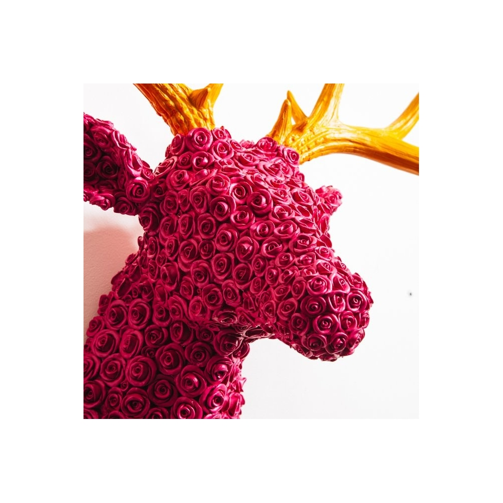 Pink Wall Stags Reindeer Wall Mounted Faux Head Decoration