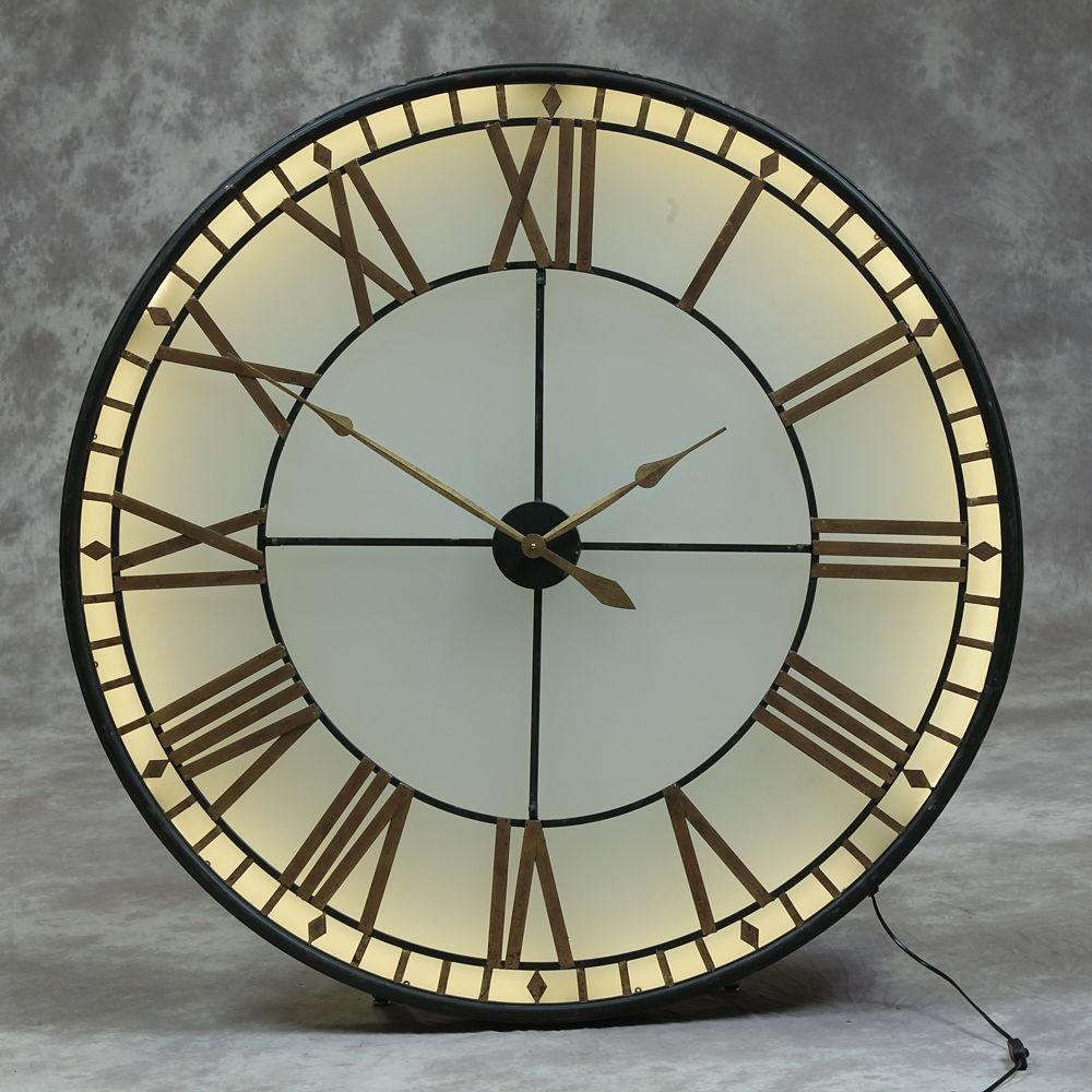 Large Big Ben Wall Clock | Westminster Lights Up Glass