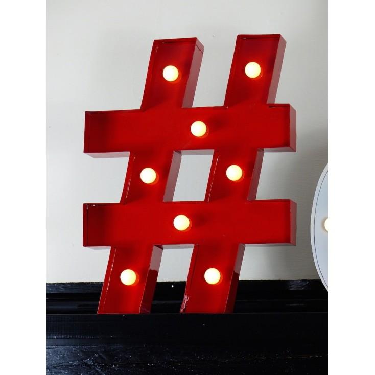 Hash Tag Letter Light