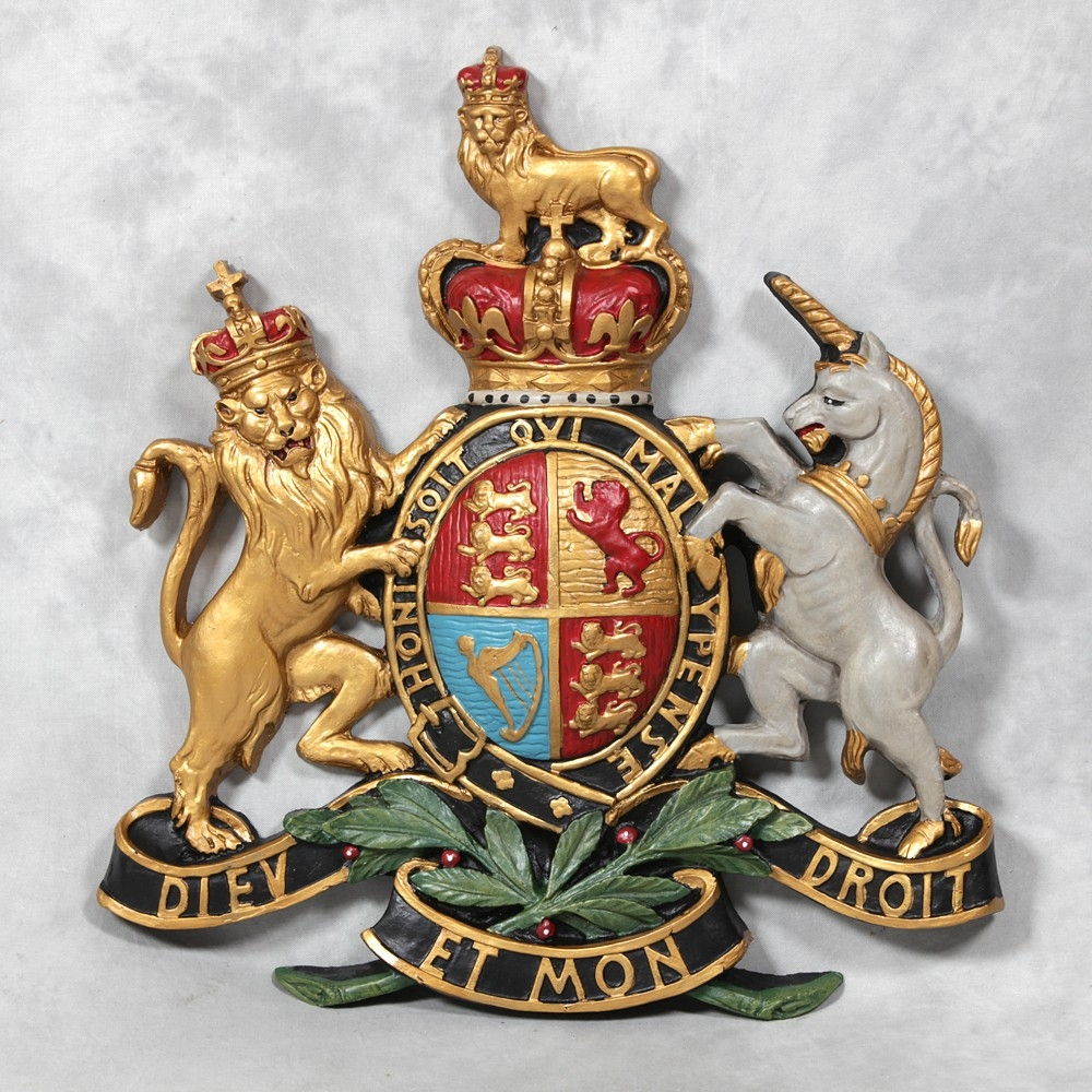 Coat Of Arms Wall Plaque Large