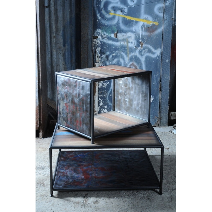 Reclaimed Cube Table Home Smithers of Stamford £ 295.00 Store UK, US, EU, AE,BE,CA,DK,FR,DE,IE,IT,MT,NL,NO,ES,SE