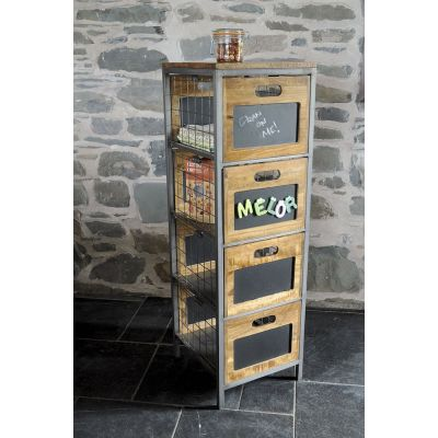 Apothecary Tallboy Cabinet Industrial Furniture Smithers of Stamford £ 439.00 Store UK, US, EU