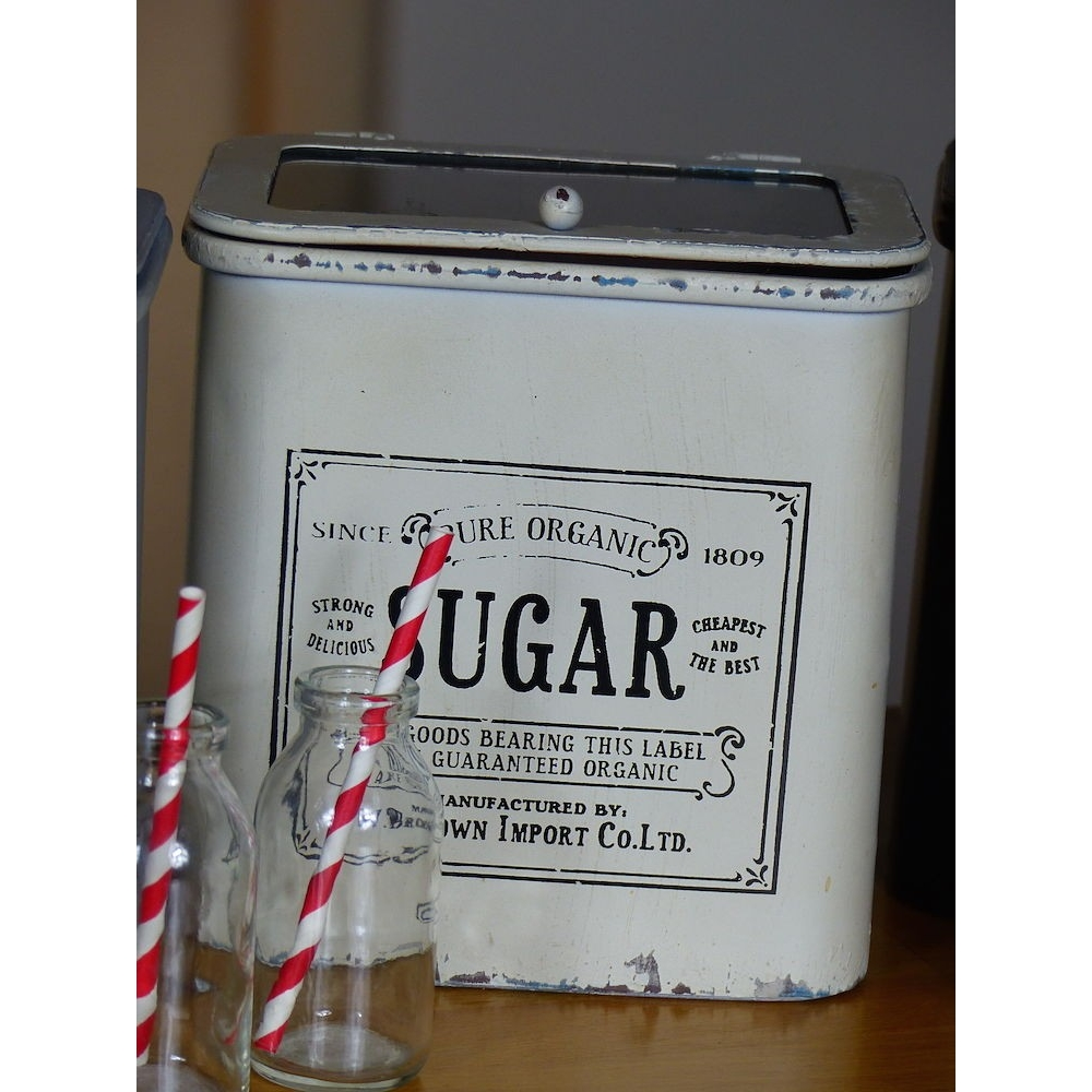 Vintage Tea Coffee Sugar Canisters