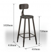 Industrial Breakfast bar stools