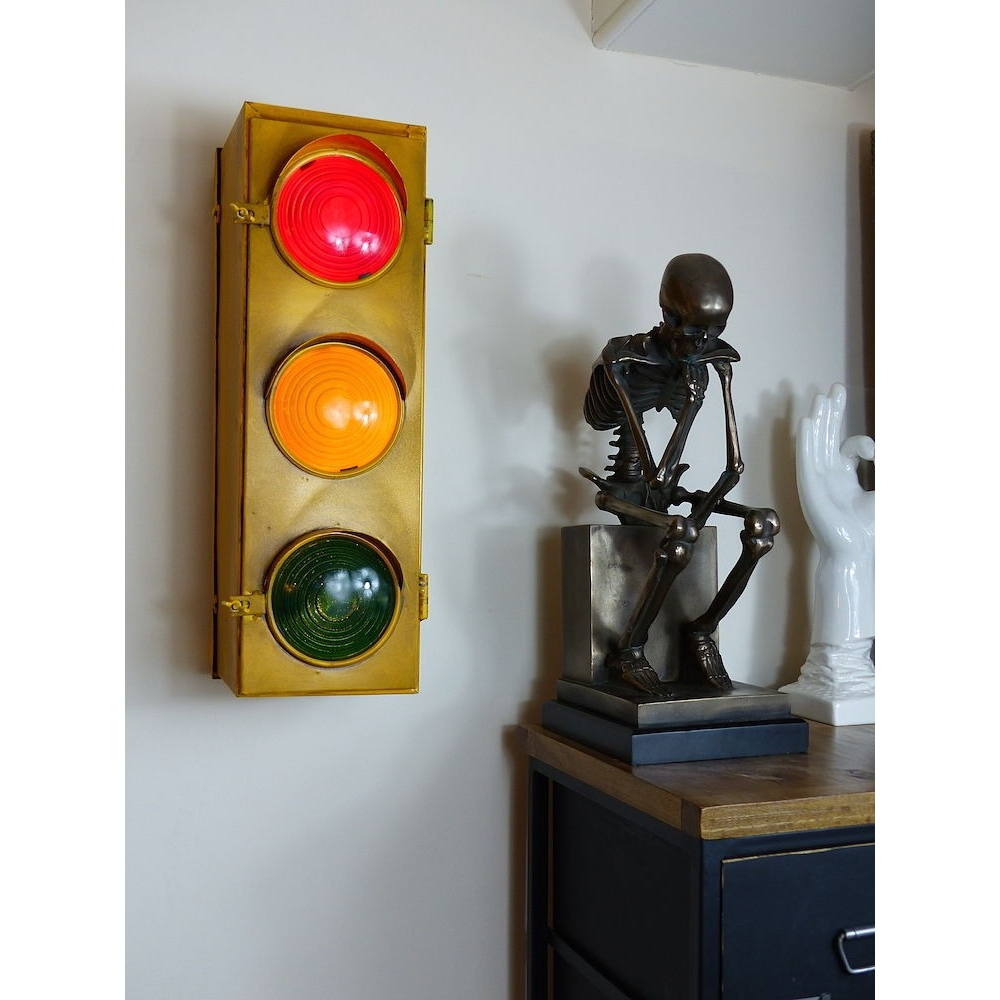 Home, Vintage Traffic Light To Lighten Up Your Home