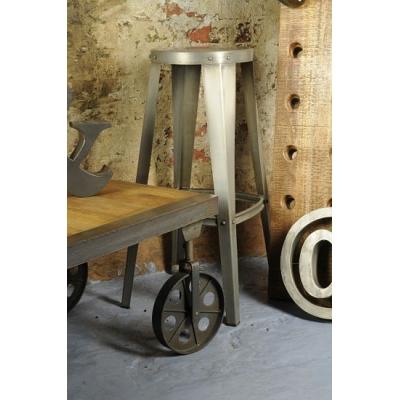 Vintage style garage stool