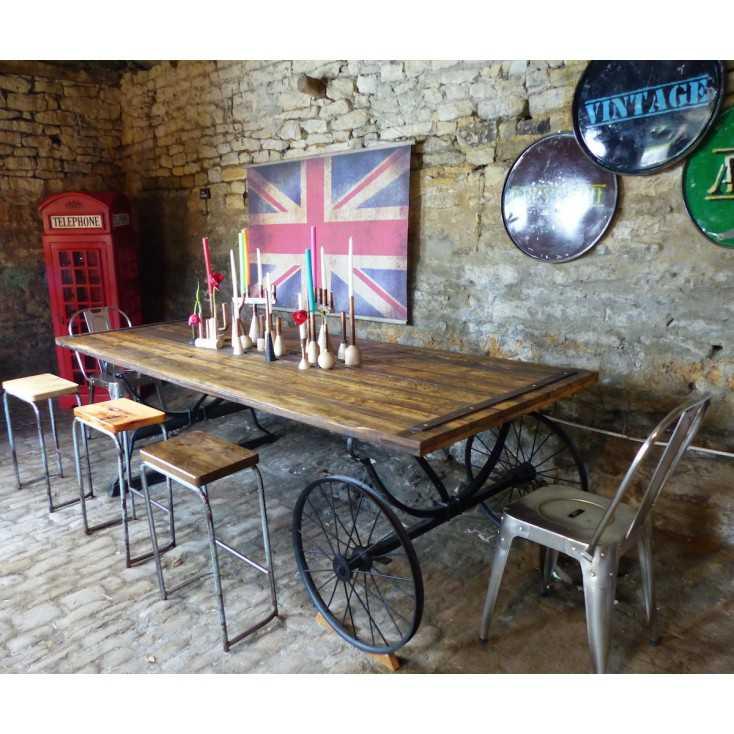 Reclaimed Wood Farmhouse Table | Reclaimed Wood Pub Tables on tresses