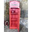 British Red Phone Box Cabinet