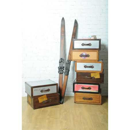 Vintage Time Traveller Ski Pair Smithers Archives Smithers of Stamford £ 159.00 Store UK, US, EU, AE,BE,CA,DK,FR,DE,IE,IT,MT,...