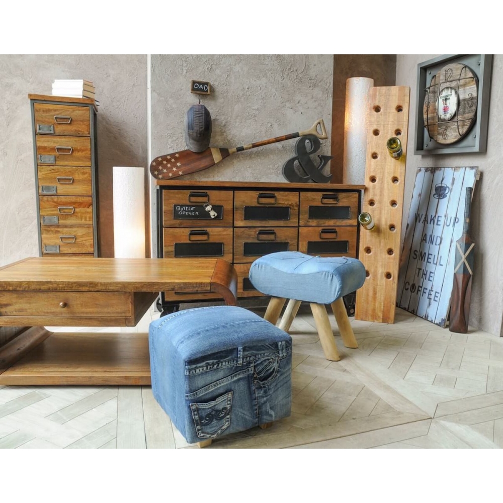 Stamford Ct Furniture Stores: Best Online Shop Denim Furniture Footstool By Smithers Of