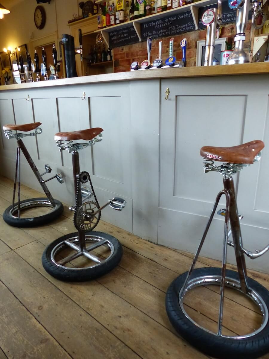Bicycle Bar Stools Handmade From Old Bike Parts