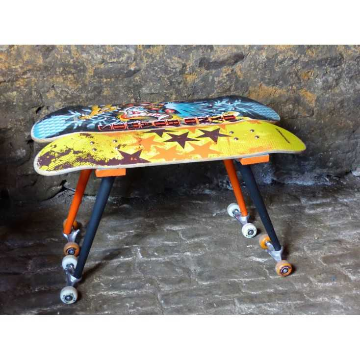 Skateboard table from the money for nothing show by Sarah Moore