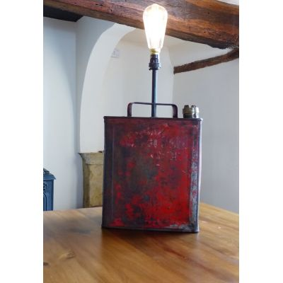 Upcylced Petrol Can Lamp