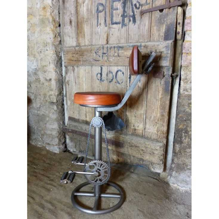 Bike Bar Stool Bicycle Pedal Bar Stool Urban Retro Metal