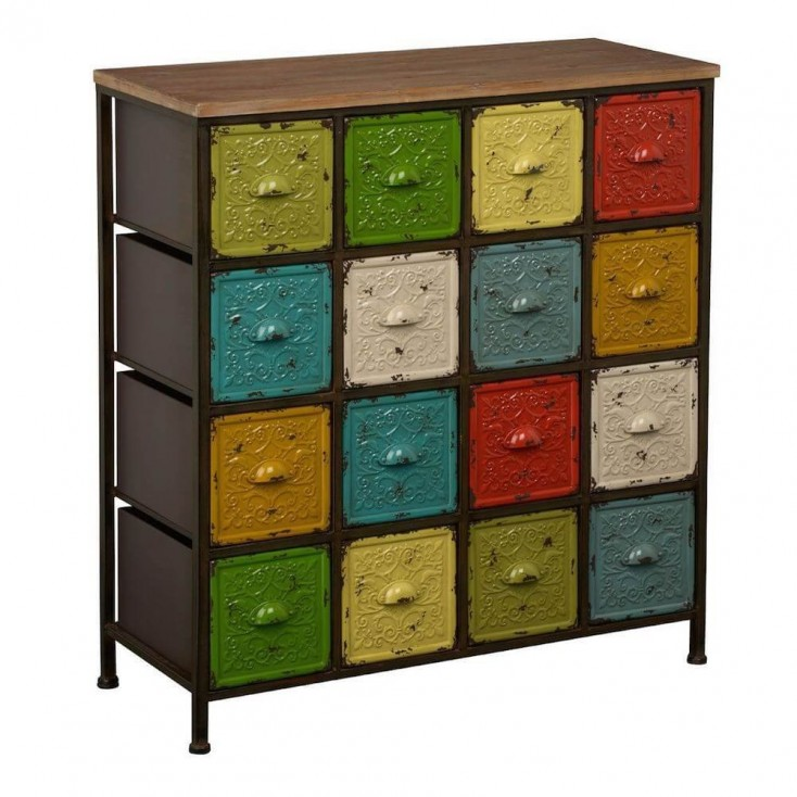 hub tall cosmo buy of drawers chest indian drawer industrial